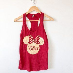 """Disney Minnie Mouse Gold """"Bride Tribe"""" Tank Top"""